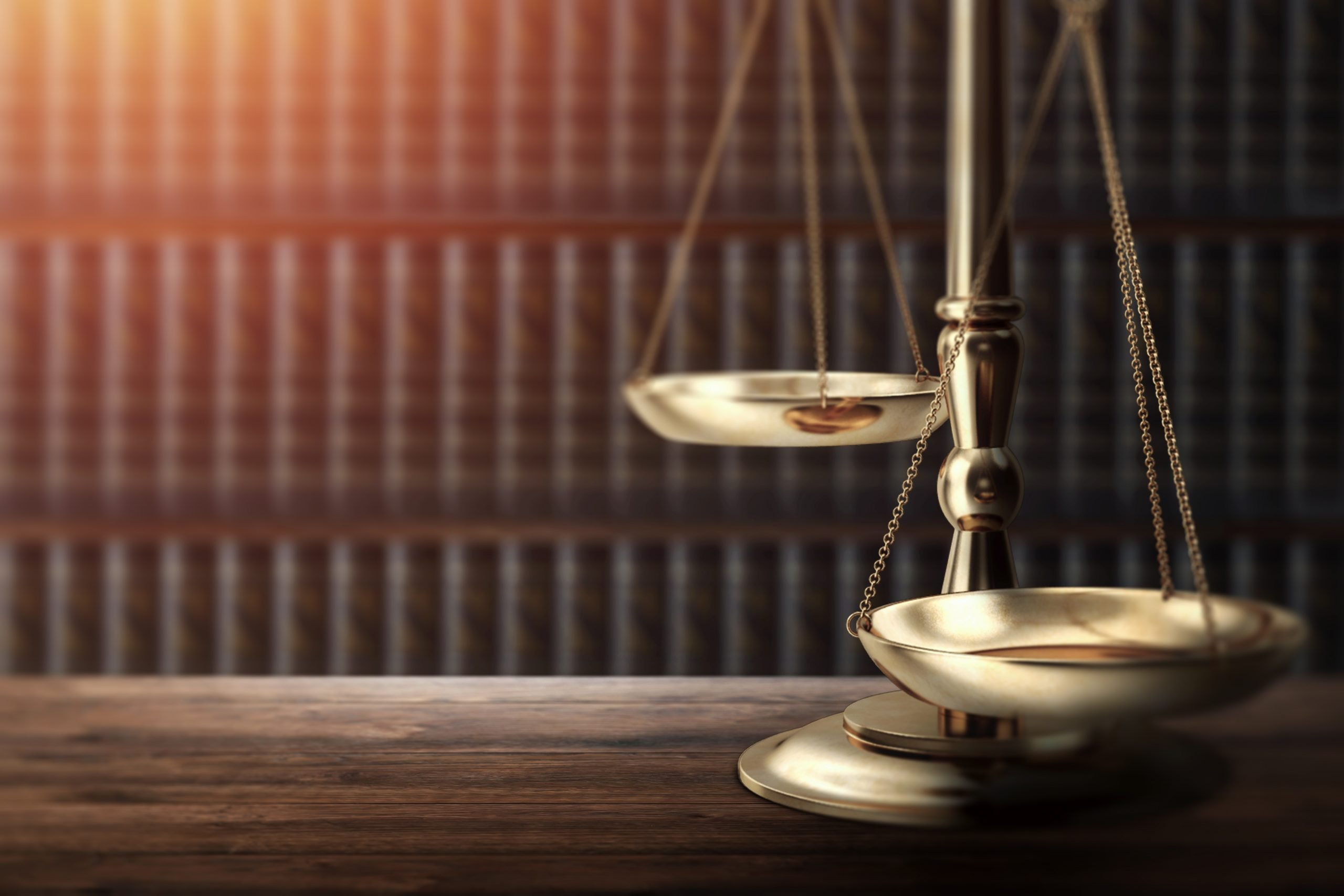Judge's gavel on wooden background, top view. The concept of justice, punishment, judge, corrupt court.